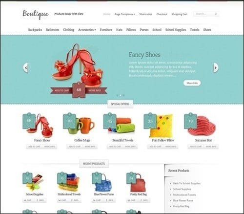 boutique WordPress ecommerce themes