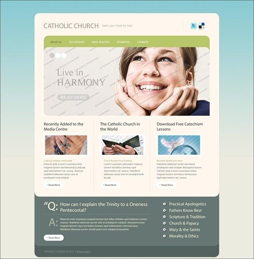 catholic-church website theme