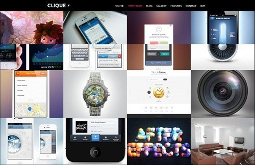 clique WordPress Photography Themes