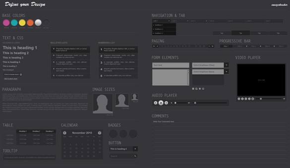 Define Your Design Wireframe Kit