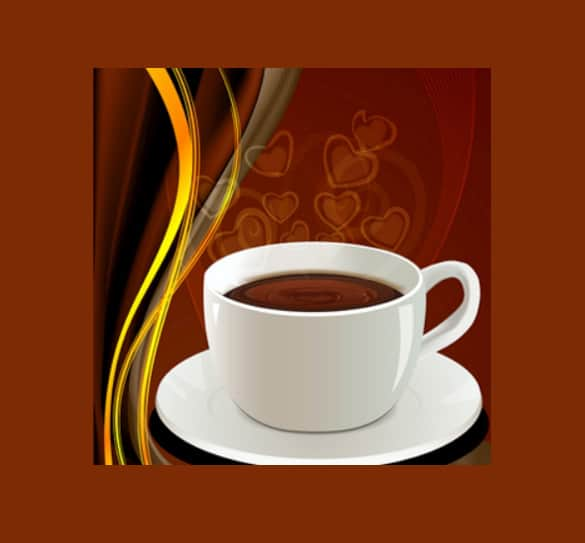 Love My Coffee Abstract Vector