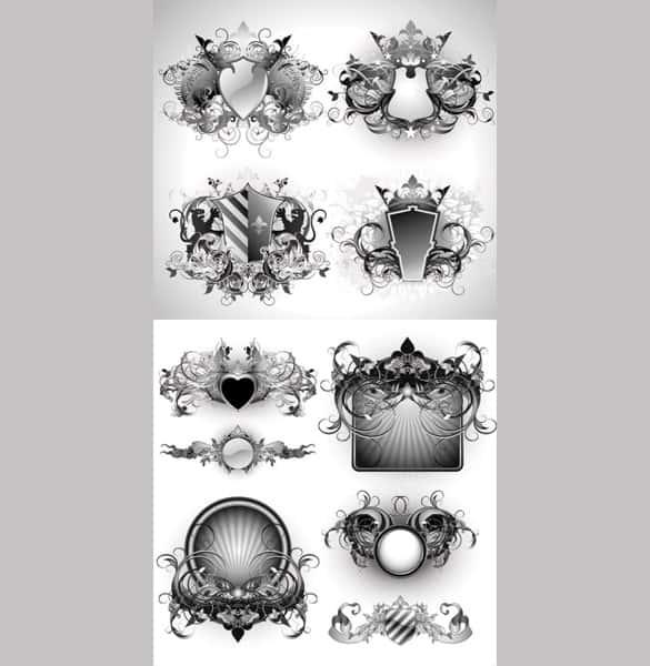 10 Intricate Heraldry Vector Graphics