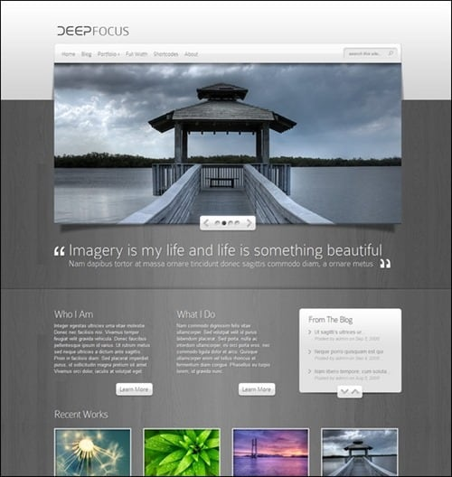 deep-focus simple wordpress themes