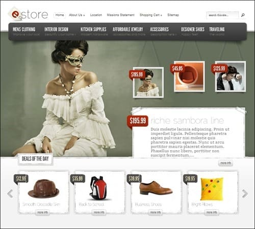 estore eCommerce WordPress Theme