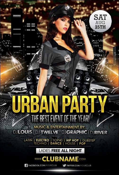 Free Urban flyer templates