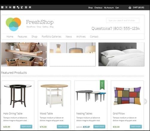 freshshop WordPress ecommerce themes