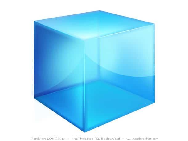glossy box icon