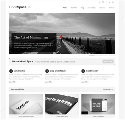 good-space simple wordpress themes