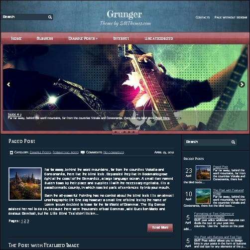 grunger wordpress music theme