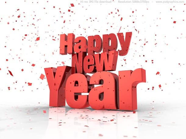 happy new year confetti