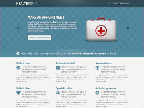 health point landing page templates