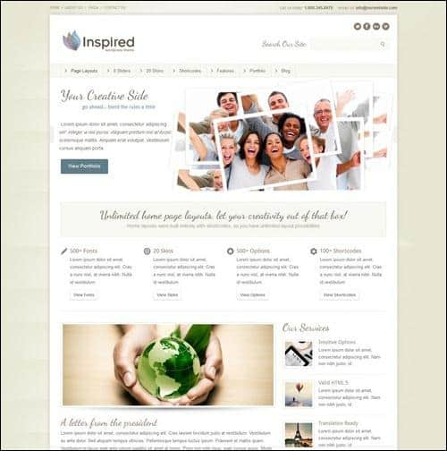 inspired wordpress business themes