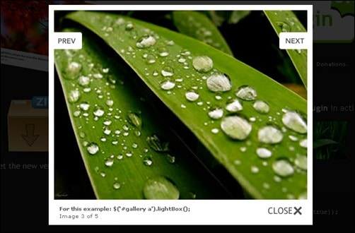 jQuery Image Zoom Plugins jQuery-lightBox-plugin