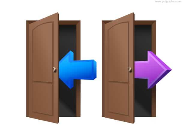login and logout door