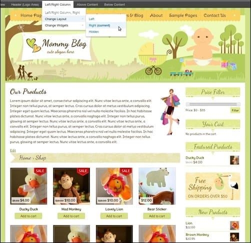 mommyblog WordPress ecommerce themes