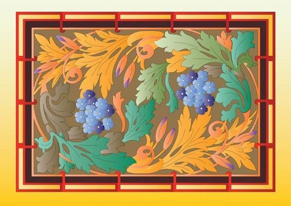 Glorious Floral Autumn Nature Vector Art
