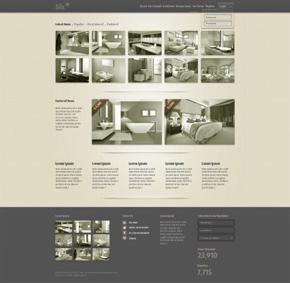 Silc Sepia Product Website Template PSD