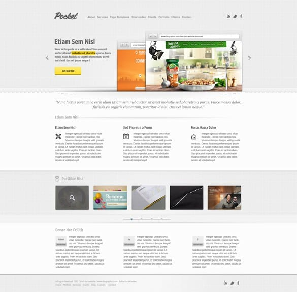 Pocket Product Theme Website Template PSD