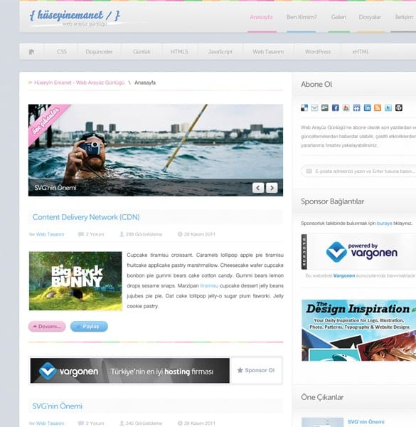 Clean Minimal Blog Website Template PSD
