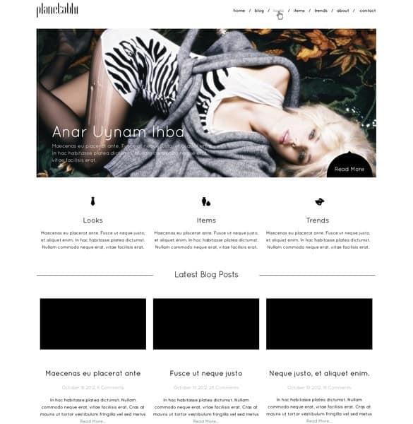 Clean Minimal Fashion Webpage PSD