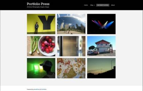 portfolio press photography website templates