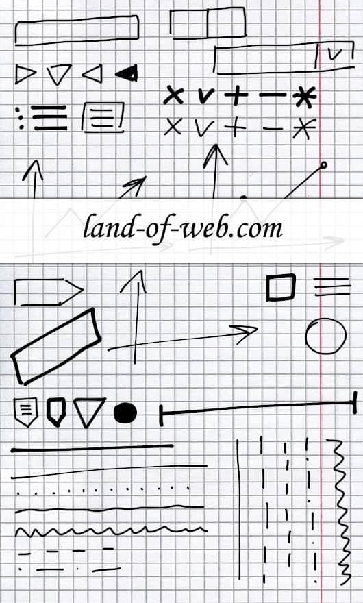 Freebie: Hand-Drawn UI Elements part 1
