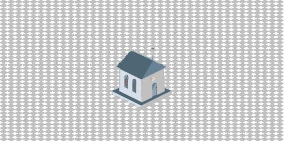 Isometric Small Church Illustration