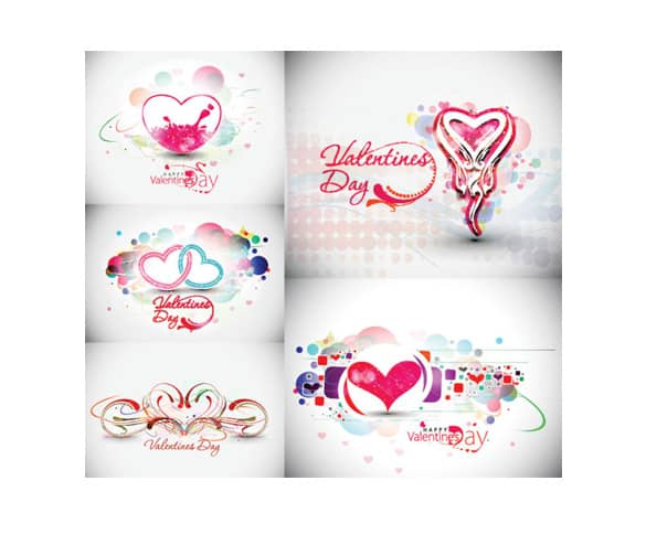 5 Abstract Valentine's Day Illustrations