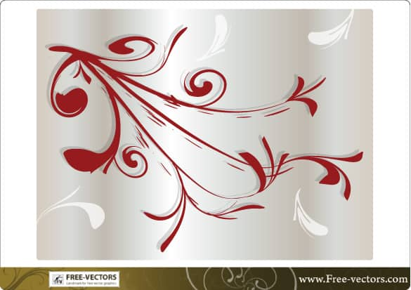 Floral Branch Vector Ornament