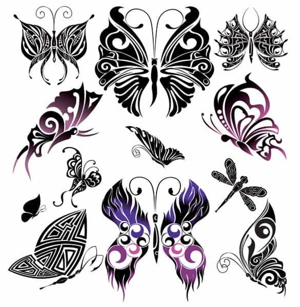 Beautifully Hand Drawn Vector Butterflies