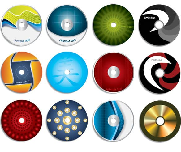 12 Unique Vector CD Labels