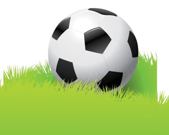 Realistic Soccer Football Vector Illustration