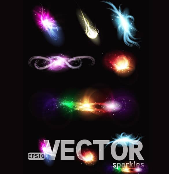 Vector Color Light Effects Display