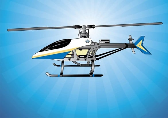 Detailed Radio Helicopter Vector
