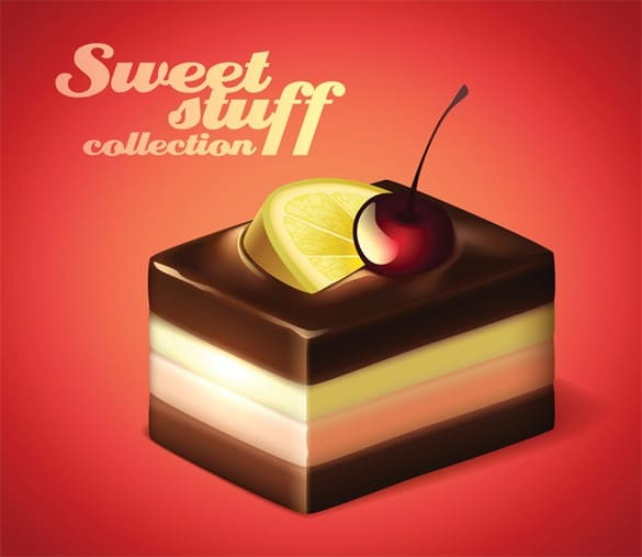 Sweet Chocolate Dessert Vector Ilustration