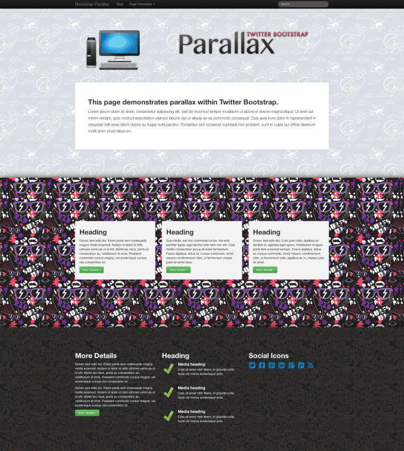 Bootstrap-Parallax-Homepage