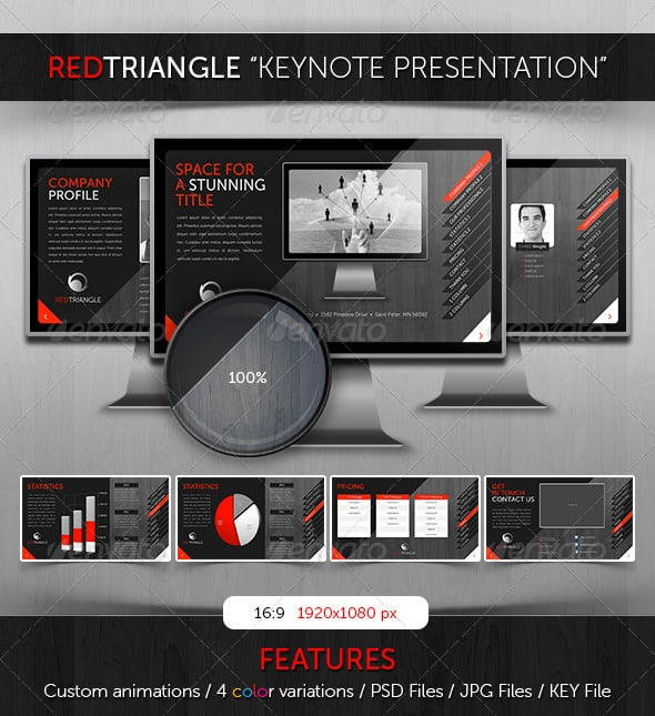 RedTriangle-keynote-template