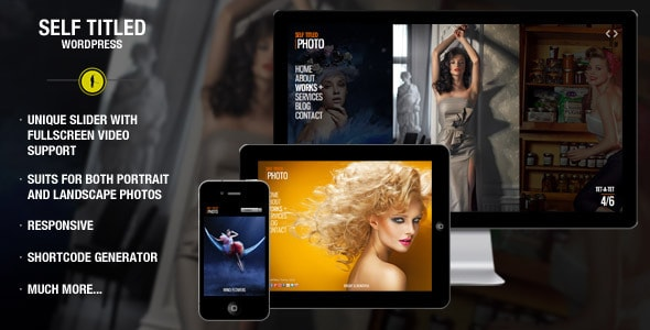 Self Titled - responsive & unique WordPress theme