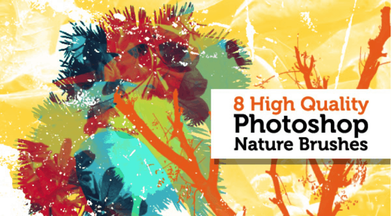 8 high quality Photoshop nature brushes