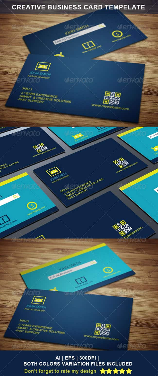 Android Business Card Design