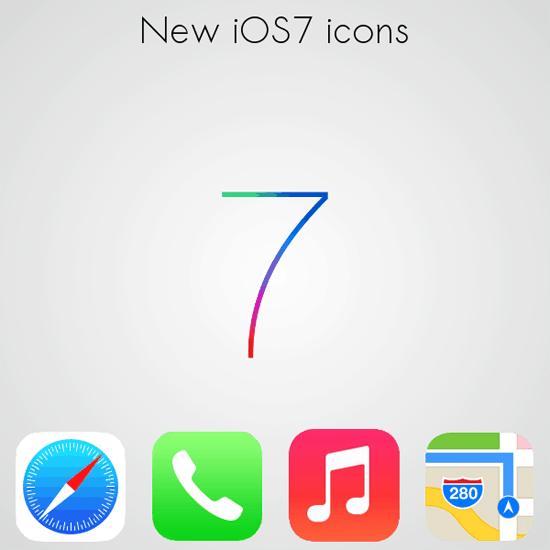 New iOS 7 icons