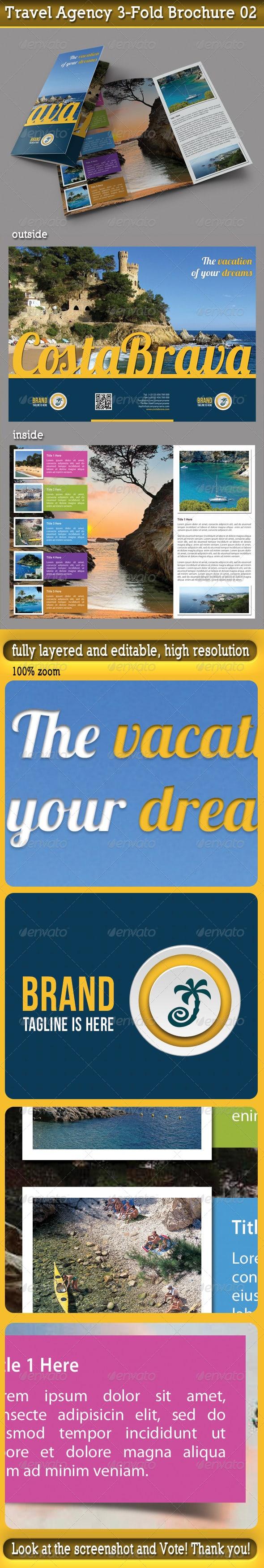 Travel Agency 3-Fold Brochure