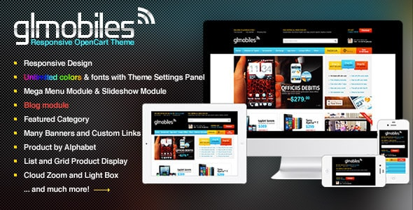 Bossthemes GLMobiles Responsive OpenCart Theme