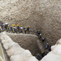 Descent to Tel Sheva Cistern and Tunnel
