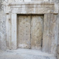 """The stone doors with stone """"nails"""""""