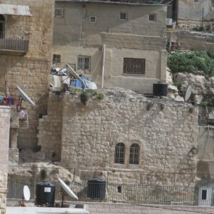 Typical Yemenite Jewish architecture in Kfar Hashiloah-Silwan