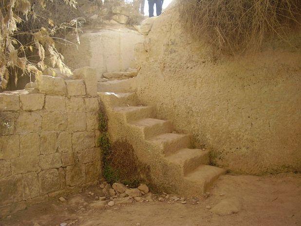 Havarim Cistern stairs