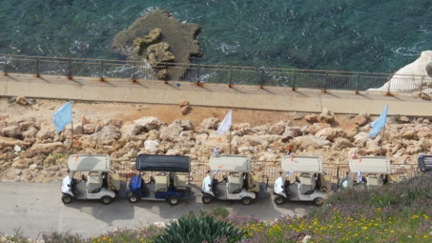 Tourist activities on the coast