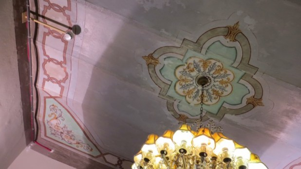 Decorated ceiling in Villa Wieland