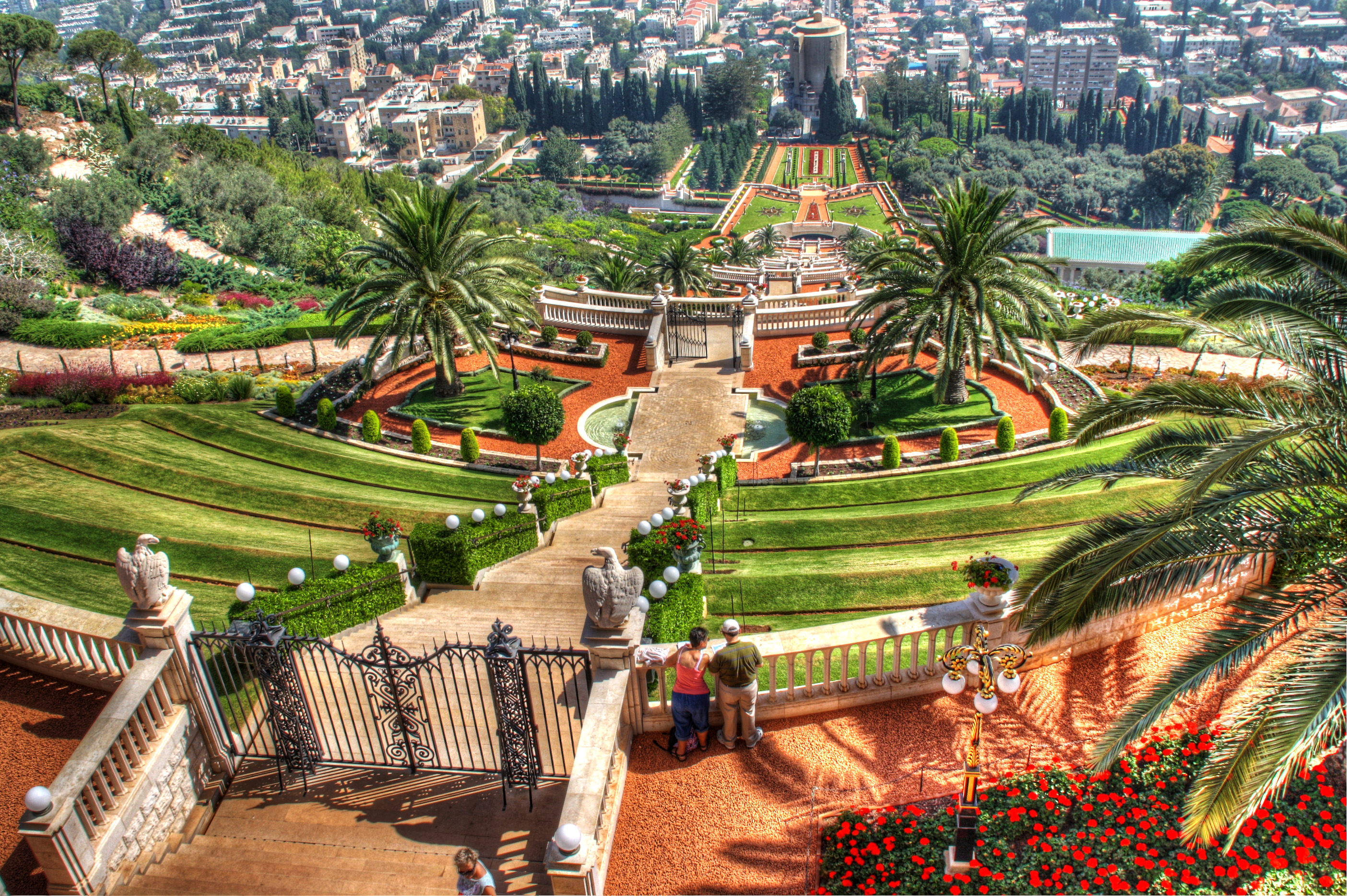bahai gardens a hillside of beauty israel and you